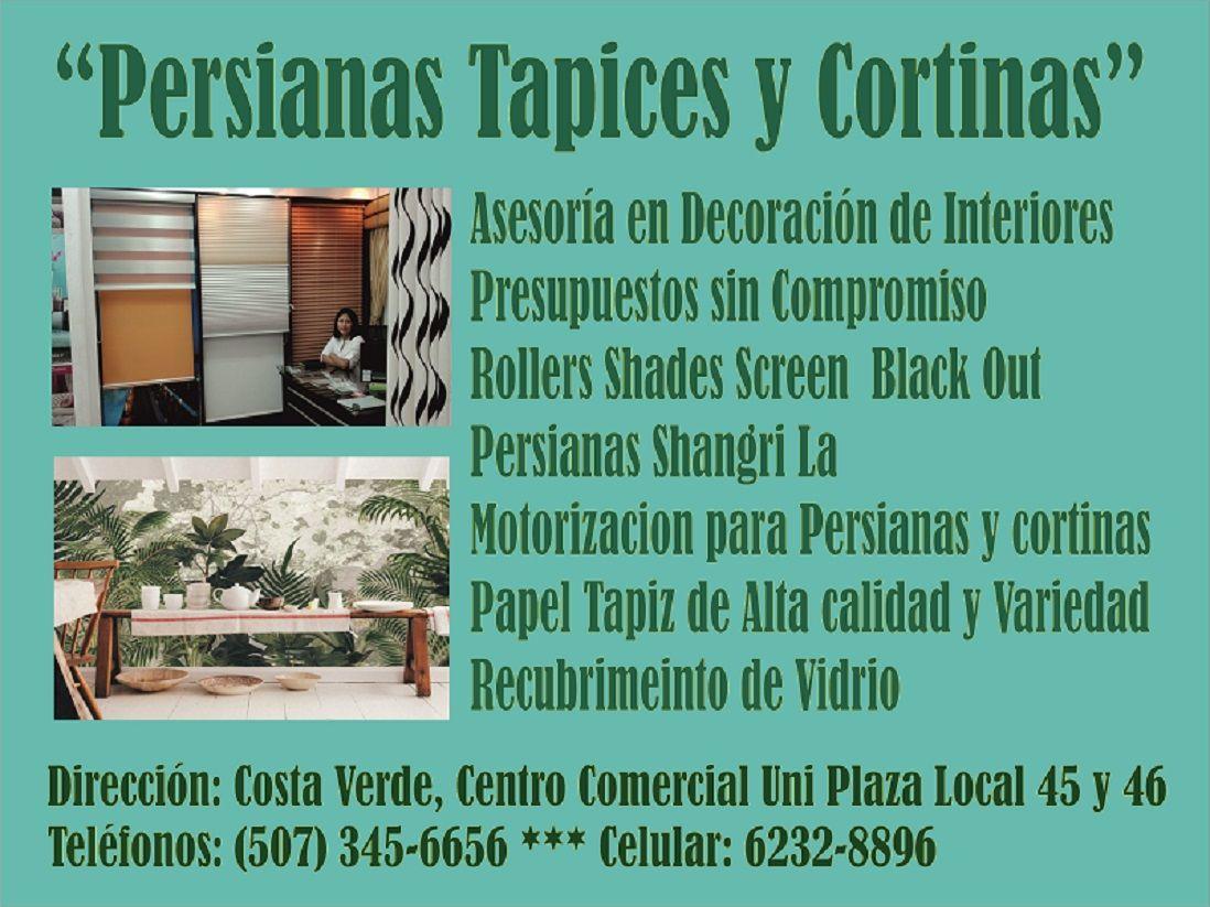 Directorio de panam oeste persianas tapices y cortinas - San carlos cortinas ...